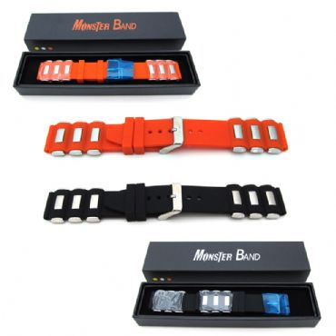 New SEIKO MONSTER Watch Strap ORIGINAL Band Mens PU Rubber Stainless Steel 20mm